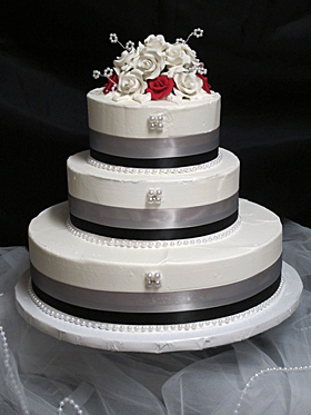How Many People Will A  Tier Wedding Cake Feed